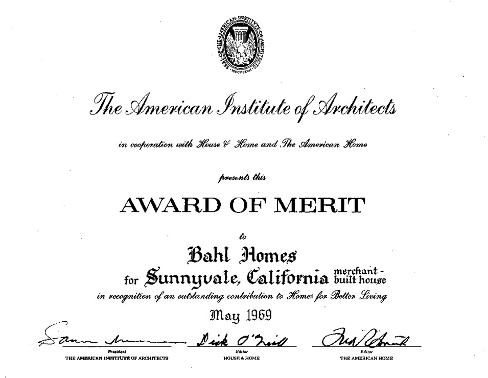 Award of Merit