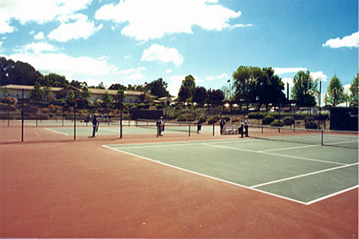 Ground View of Tennis Courts
